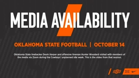 Thumbnail for entry FOOTBALL: OSU Players Devin Harper and Hunter Woodard Address the Media