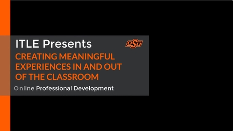 Thumbnail for entry Video Presentation Robinson- Two-Day Intensive Training Conference for Faculty