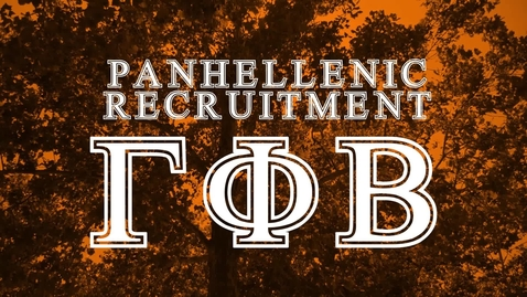Thumbnail for entry Panhellenic House Tour - Gamma Phi Beta
