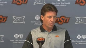 Thumbnail for entry OSU/UT Football Preview: Mike Gundy Speaks to the Media