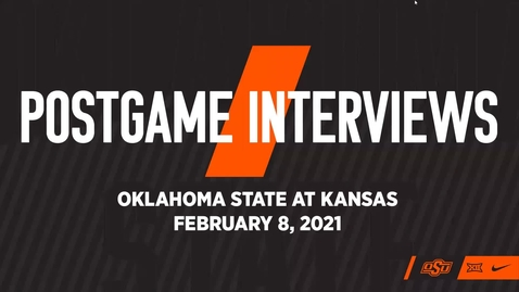Thumbnail for entry COWBOY BASKETBALL:  OSU/KU Postgame Press Conference