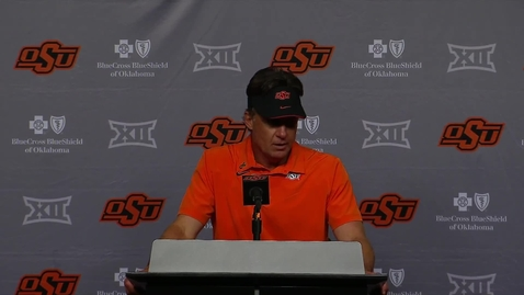 Thumbnail for entry 10/2/21 Mike Gundy OSU/Baylor Postgame Comments