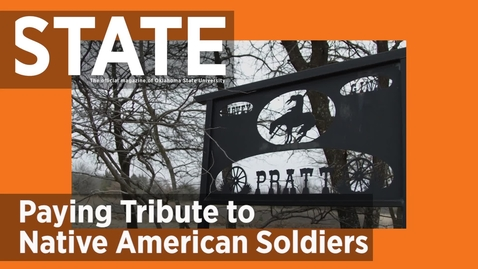 Thumbnail for entry STATE Magazine:  OSU OKC Alumnus Designing National Native American Veterans Memorial