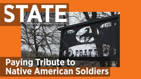 Thumbnail for entry STATE Magazine:  OSU OKC Alumnus Designing National Native American Veterans Memorial