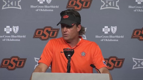 Thumbnail for entry OSU/MSU Football Postgame:  Mike Gundy Speaks to the  Media
