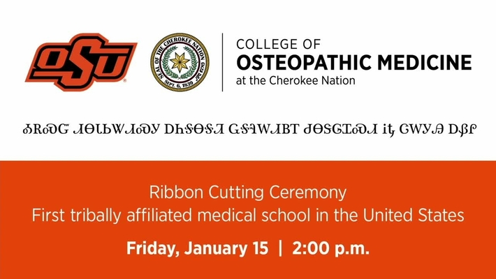 REBROADCAST:  Ribbon Cutting Ceremony for the OSU College of Osteopathic Medicine at the Cherokee Nation