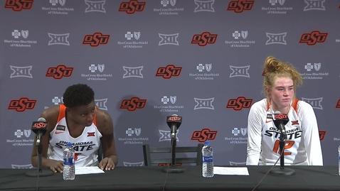 Thumbnail for entry Cowgirl Basketball:  OSU/KU Postgame Press Conference