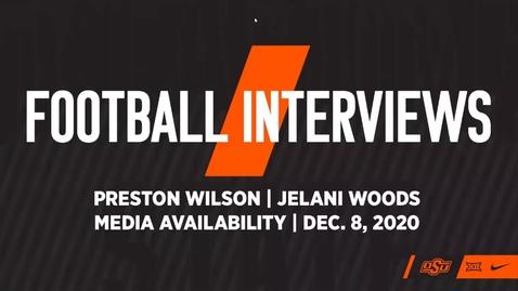 Thumbnail for entry 12/9/20 Cowboy Football: Jelani Woods and Preston Wilson Speak to the Media
