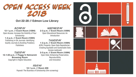 Thumbnail for entry Open Access Week 2018: Copyright in Higher Education