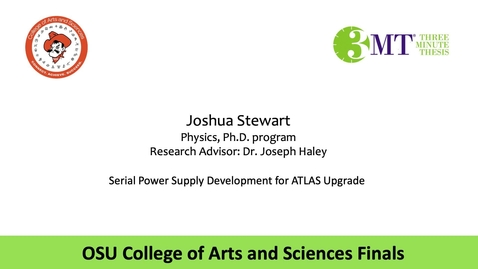 Thumbnail for entry Joshua Stewart: CAS 3MT Graduate Finals