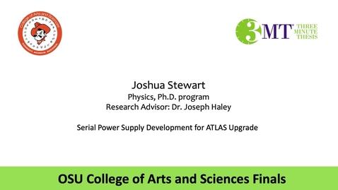 Thumbnail for entry Joshua Stewart: CAS 3MT Graduate Finals