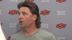 Thumbnail for entry Spring Practice: Mike Gundy