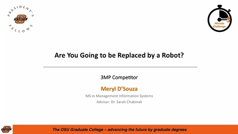 Thumbnail for entry 2018 3MC Finals - Are You Going to be Replaced by a Robot?