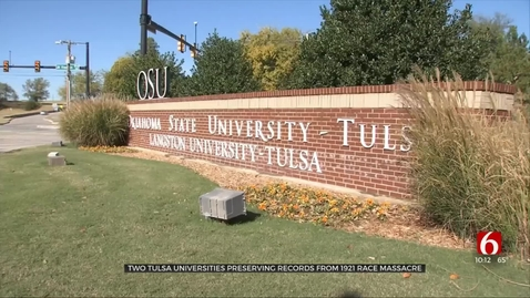 Thumbnail for entry IN THE NEWS:  OSU-Tulsa Archives Hold Story of Tulsa Race Massacre