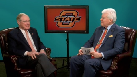 "Thumbnail for entry Enid's ""City Connections""  interviews OSU President Burns Hargis"