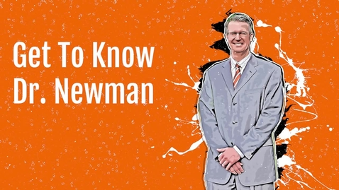 Thumbnail for entry Get To Know Dr. Scott Newman
