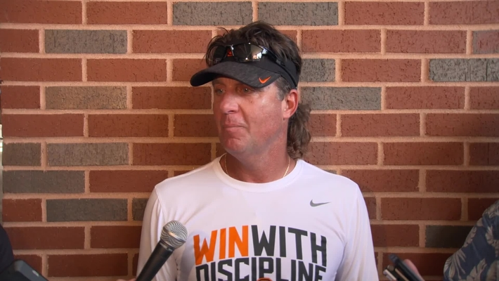 FOOTBALL:  Mike Gundy Speaks to the Media