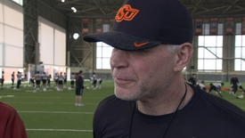 Thumbnail for entry SPRING FOOTBALL:  Jim Knowles Speaks to the Media