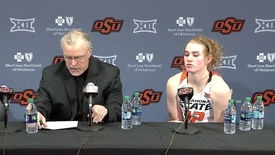Thumbnail for entry COWGIRL BASKETBALL:  WVU/OSU Postgame Press Conference