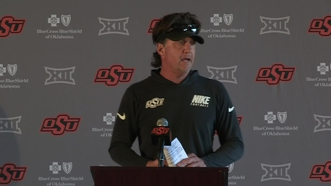 Thumbnail for entry COWBOY FOOTBALL: Mike Gundy Spring Presser 3-30-21