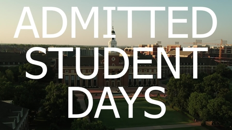 Thumbnail for entry 2020 Admitted Student Days Recap