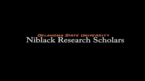 Thumbnail for entry Savannah Morris, 2017-18 Niblack Research Scholar