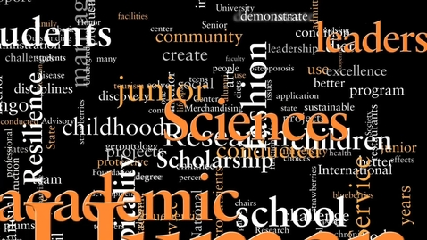 Thumbnail for entry The College of Human Sciences . . . . we are Human Scientists