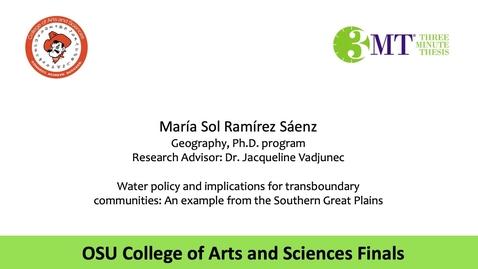 Thumbnail for entry Maria Sol Ramirez Saenz: CAS 3MT Graduate Finals