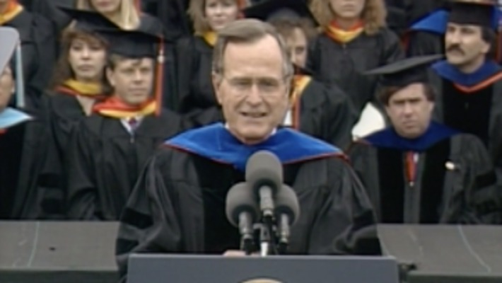 ARCHIVES:  President George H.W. Bush Speaks at Oklahoma State University Commencement