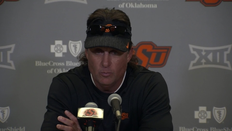 Thumbnail for entry OSU/BU Football Postgame: Mike Gundy Speaks to the Media