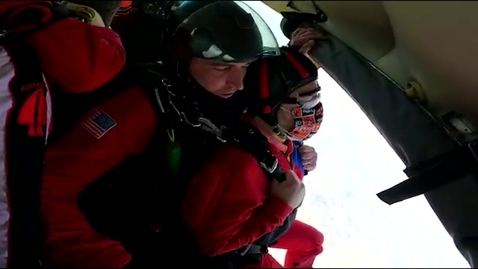 Thumbnail for entry CAS Dean Glen Krutz Skydives with Army Black Daggers