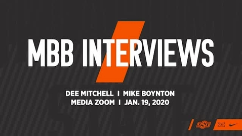 Thumbnail for entry COWBOY BASKETBALL:  Mike Boynton and Dee Mitchell Speak to the Media