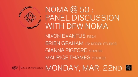Thumbnail for entry SoA Lecture Series: NOMA @ 50