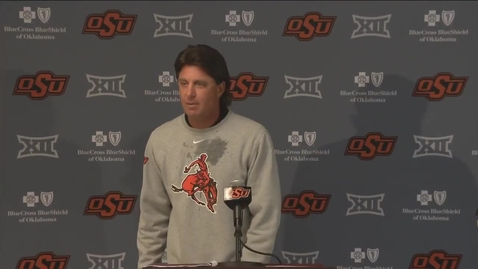 Thumbnail for entry OSU/BSU Football Preview:  Mike Gundy Speaks to the Media