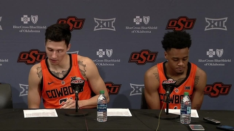 Thumbnail for entry Cowboy Basketball v. Oklahoma Postgame Press Conference: Lindy Waters II and Curtis Jones