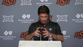 Thumbnail for entry OSU/TTU Football Postgame: Mike Gundy Speaks to the Media