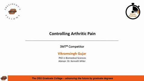 Thumbnail for entry 2018 3MC Finals - Controlling Arthritic Pain