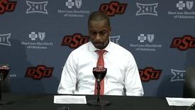 Thumbnail for entry Cowboy Basketball v. Kansas State Postgame Press Conference: Mike Boynton