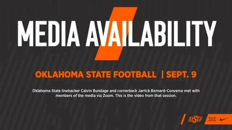 Thumbnail for entry FOOTBALL: OSU Players Calvin Bundage and Jarrick Bernard-Converse Address the Media