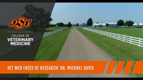 Thumbnail for entry Vet Med Faces of Research: Dr. Michael Davis