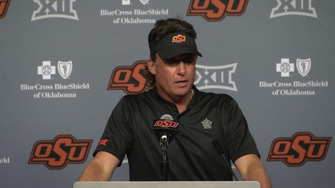 Thumbnail for entry OSU/USA Football Postgame:  Mike Gundy Speaks to the  Media