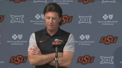 Thumbnail for entry OSU/KU Football Preview: Mike Gundy Speaks to the Media