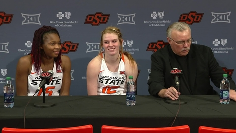 Thumbnail for entry OSU/HBU Women's Basketball Postgame: Head Coach Jim Littell and Players Speak to the Media