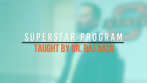 Thumbnail for entry Superstar Program - Dr. Raj Basu