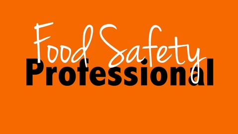 Thumbnail for entry Become a FAPC Food Safety Professional