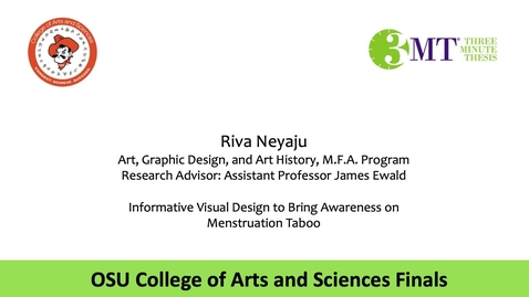 Thumbnail for entry Riva Neyaju: CAS 3MT Graduate Finals