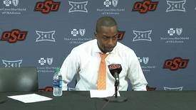 Thumbnail for entry OSU/Charleston Basketball Postgame: Mike Boynton Speaks to the Media