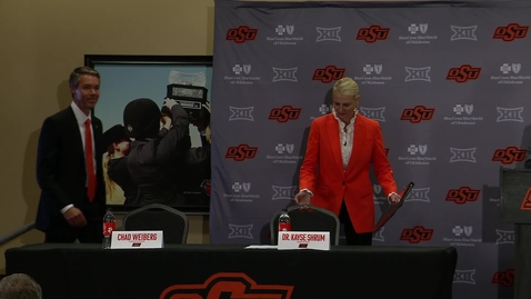 Thumbnail for entry President Kayse Shrum & Athletic Director Chad Weiberg Press Conference