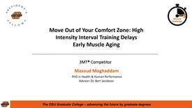 Thumbnail for entry 2018 3MC Finals - Move Out of Your Comfort Zone: High Intensity Interval Training Delays Early Muscle Aging