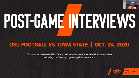 Thumbnail for entry FOOTBALL: Mike Gundy and Players Speak to the Media Following Win over Iowa State